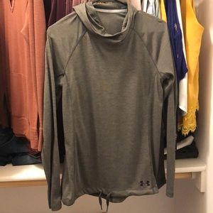 Cowl neck under Armour light weight hoodie.